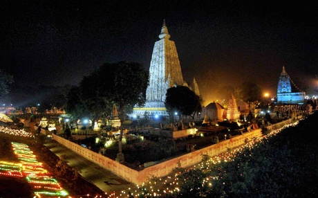 Mahabodhi Temple Night View