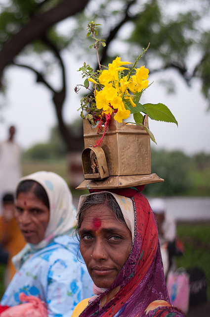 Women with Tulsi